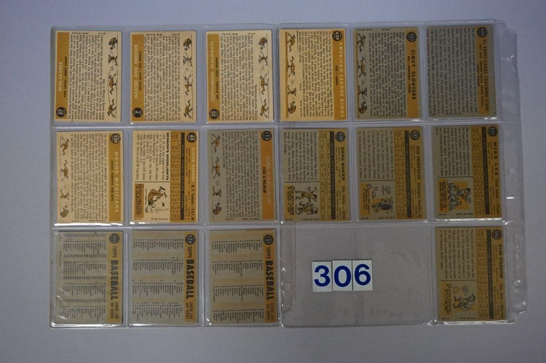 (16 DIFF.) 1960 TOPPS BASEBALL CARDS - 2