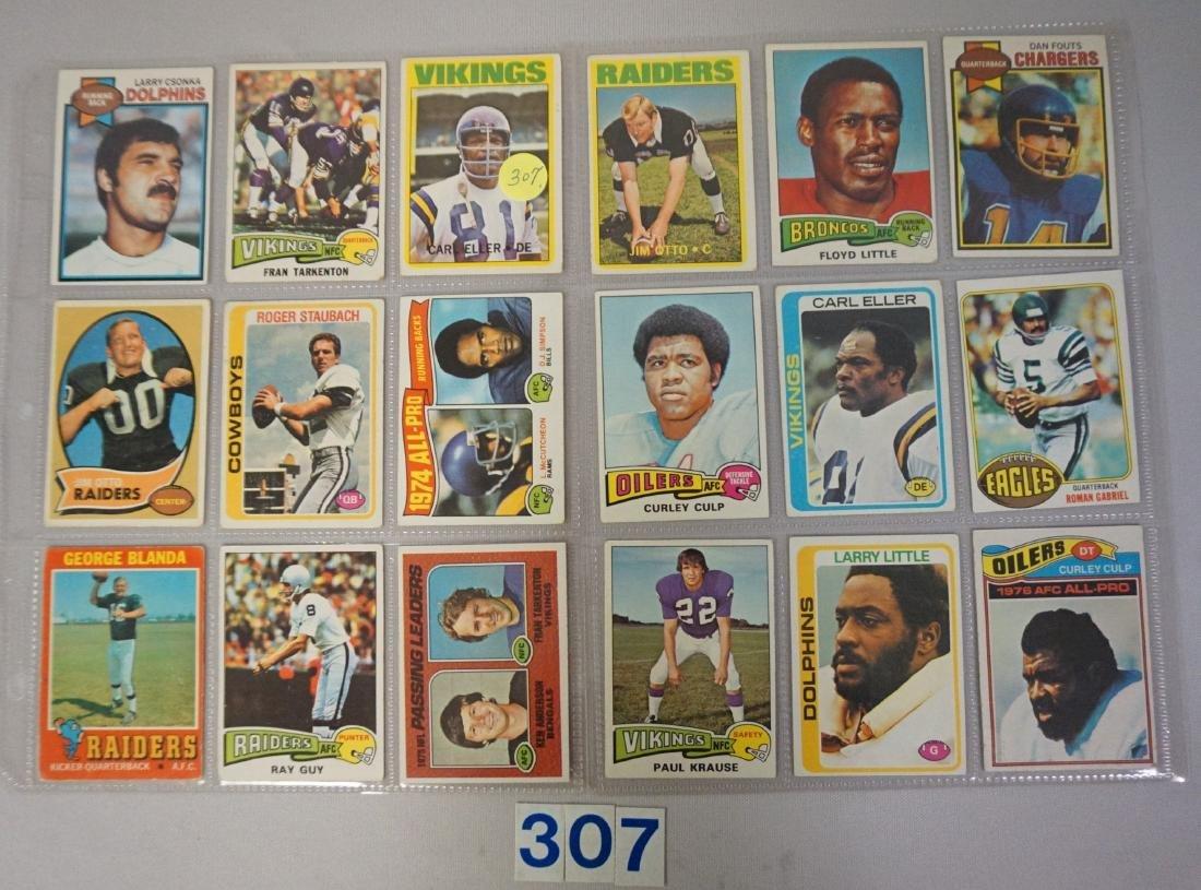 1970'S TOPPS FOOTBALL CARD LOT: