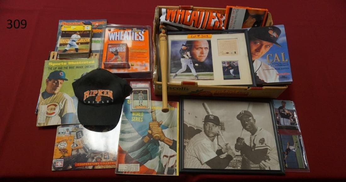 LOT: BOX WITH CAL RIPKEN, JR. COLLECTIBLES