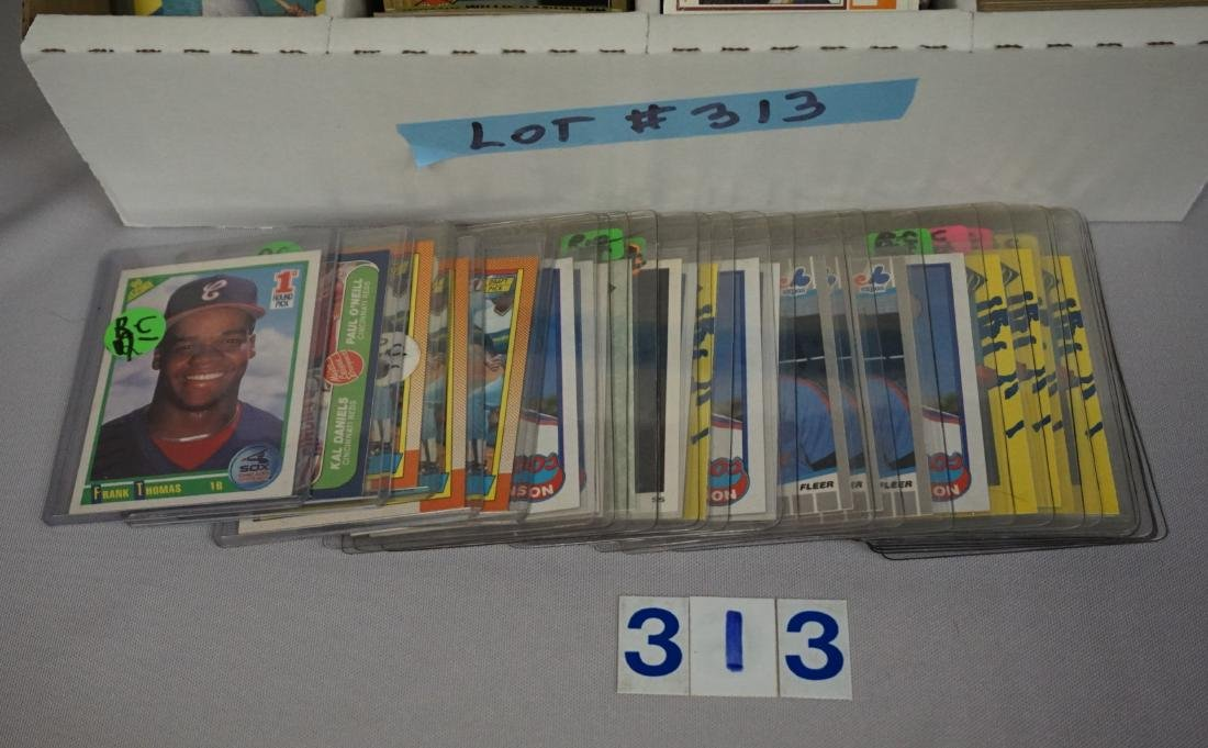 FOUR ROW BOX OF MOSTLY BASEBALL CARDS - 2