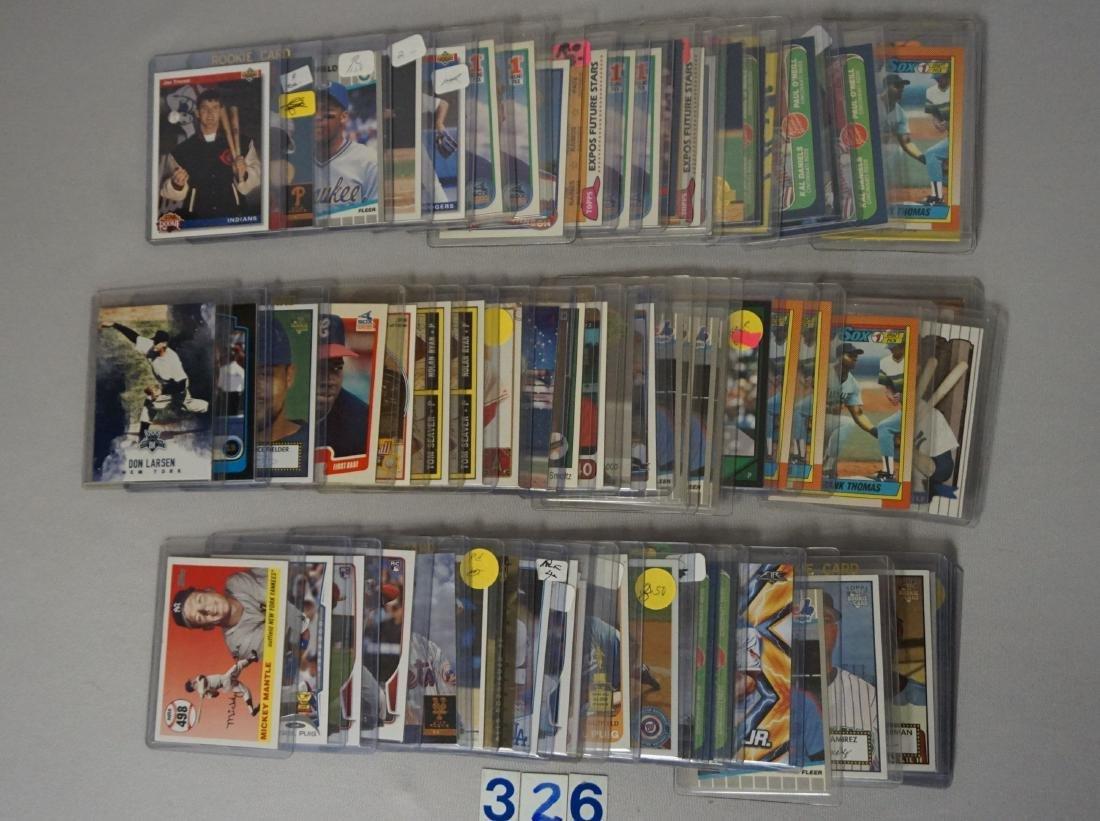 (76 CARDS) MANY BASEBALL ROOKIE CARDS