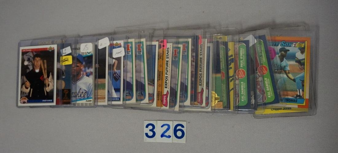 (76 CARDS) MANY BASEBALL ROOKIE CARDS - 3
