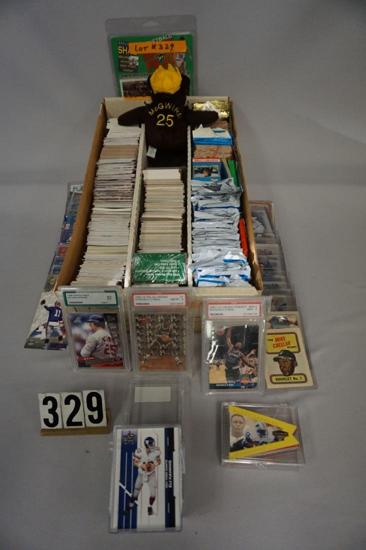 THREE ROW BOX OF ASSORTED CARDS,
