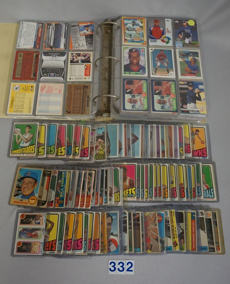 (80+ CARDS) LOT OF 1960'S & '70'S SPORTS CARDS,