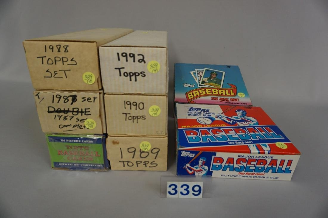 LOT: 1986 & 1989 TOPPS FACTORY CELLO BOXES,
