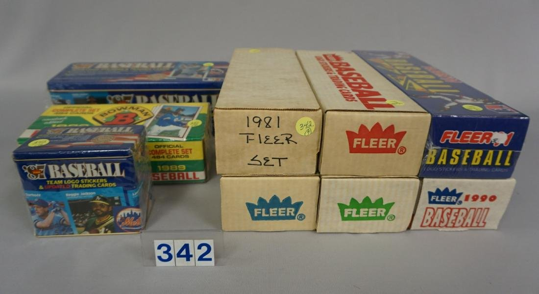 1981 FLEER BASEBALL CARD SET, 1989 BOWMAN