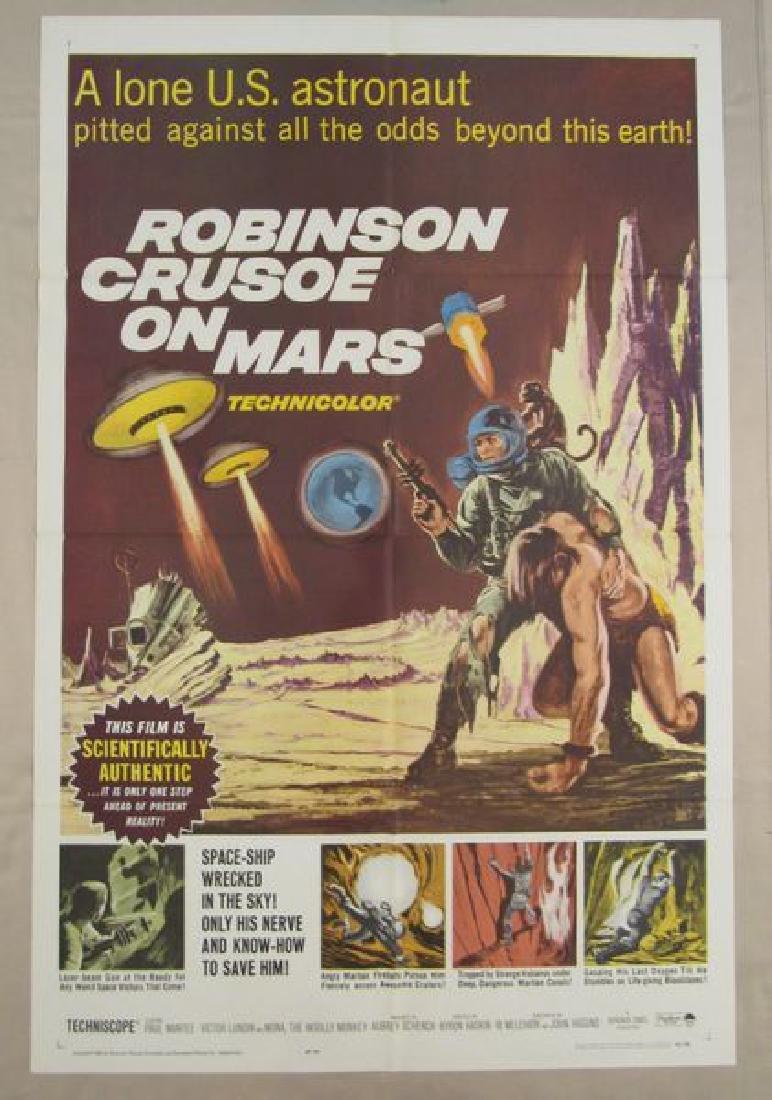 ROBINSON CRUSOE ON MARS - 1964, ONE SHEET