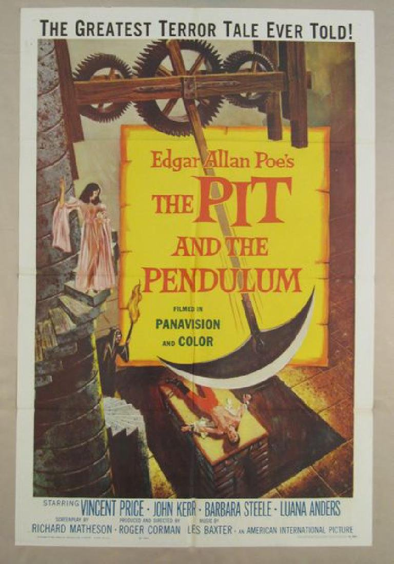 THE PIT AND THE PENDULUM - 1961,  ONE SHEET