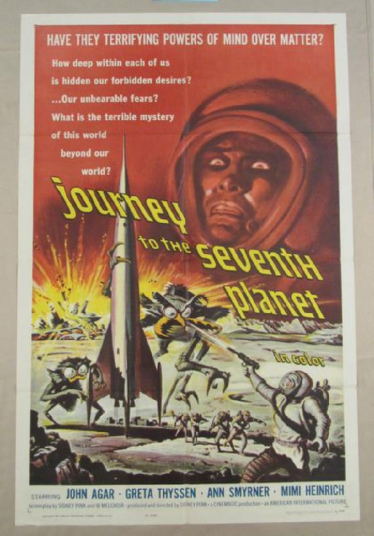 JOURNEY TO THE 7TH PLANET - 1961, ONE SHEET