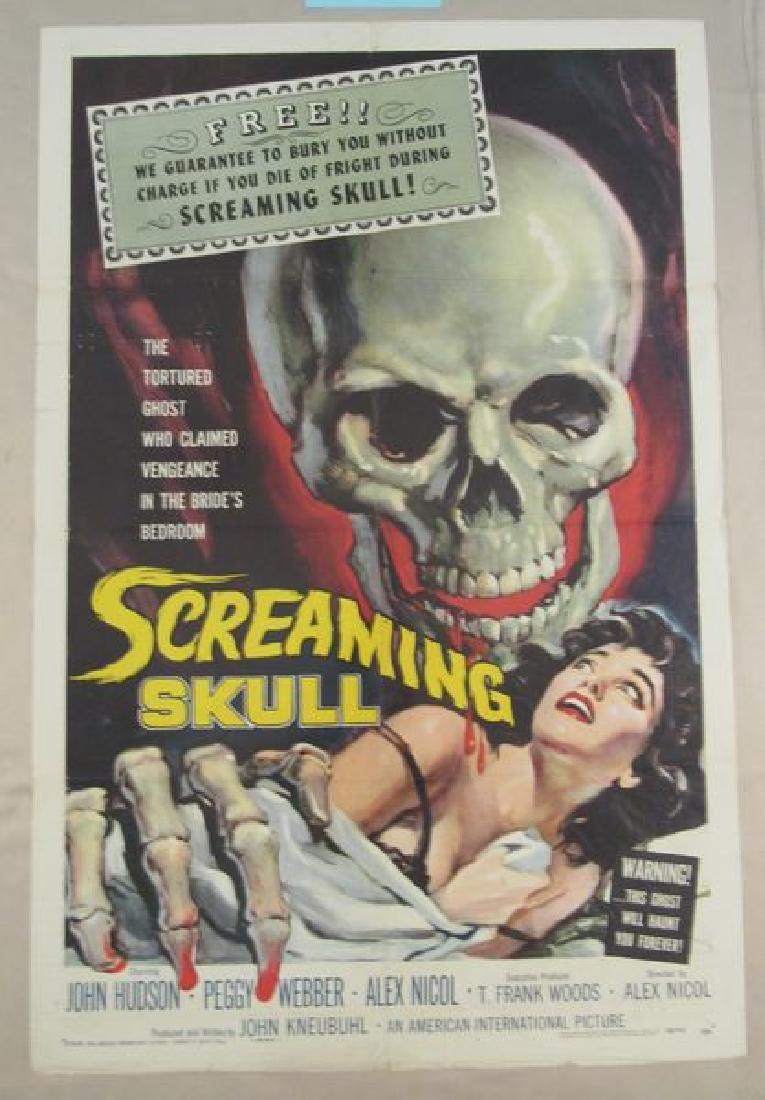 SCREAMING SKULL - 1958, ONE SHEET
