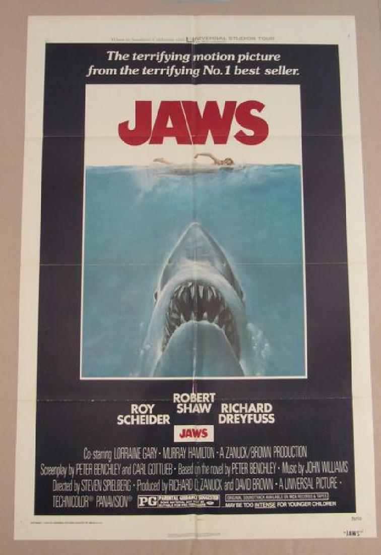 JAWS - 1975, ONE SHEET - FULLY FOLDED: