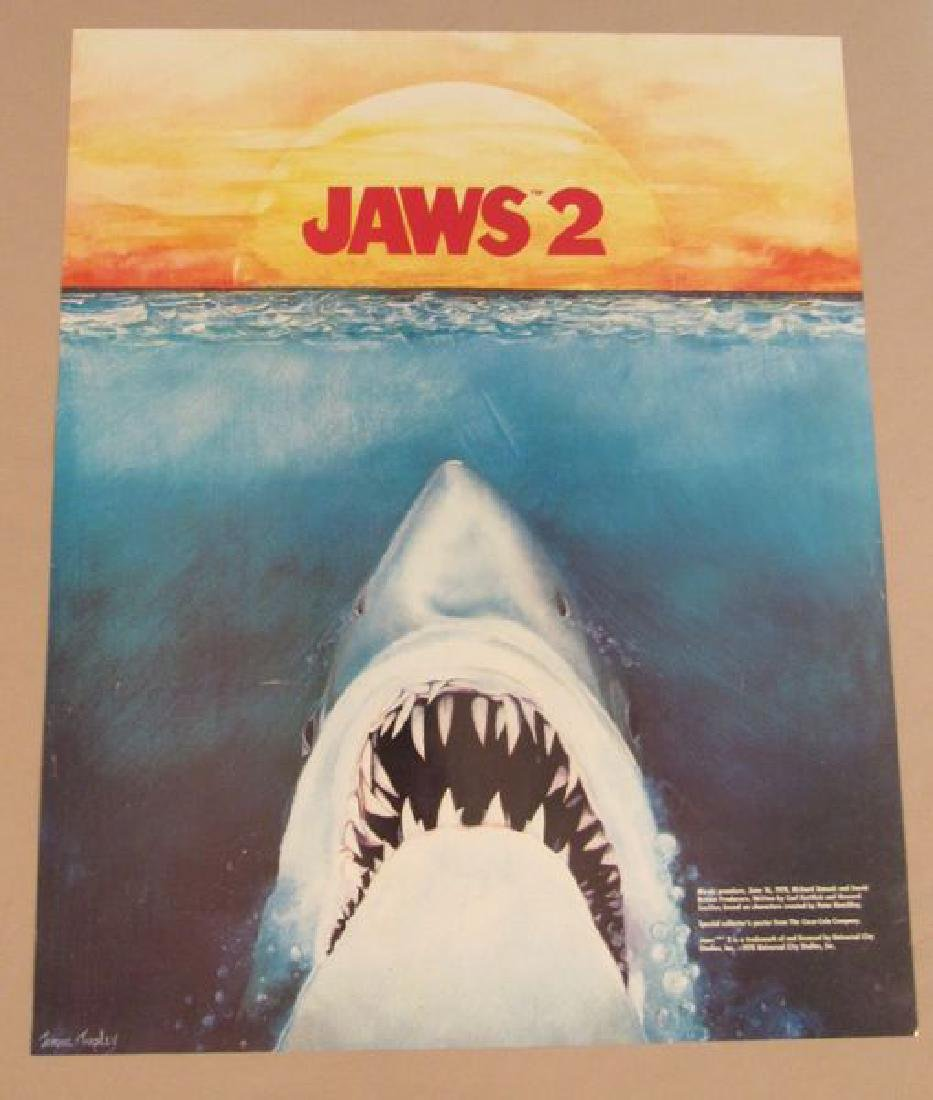 (2) JAWS 2 MUSIC POSTERS (18 1/2 IN. X 23 IN.) -