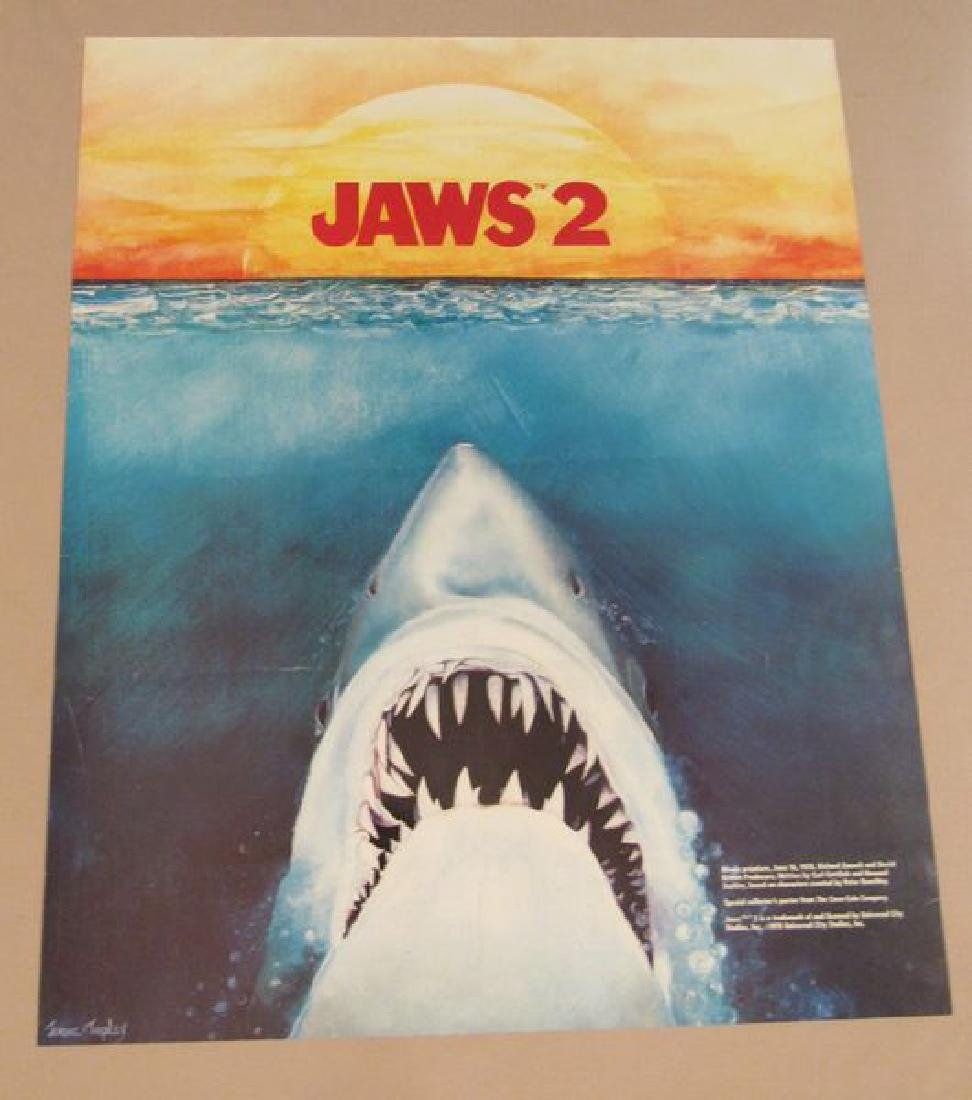 (2) JAWS 2 MUSIC POSTERS (18 1/2 IN. X 23 IN.) - - 2