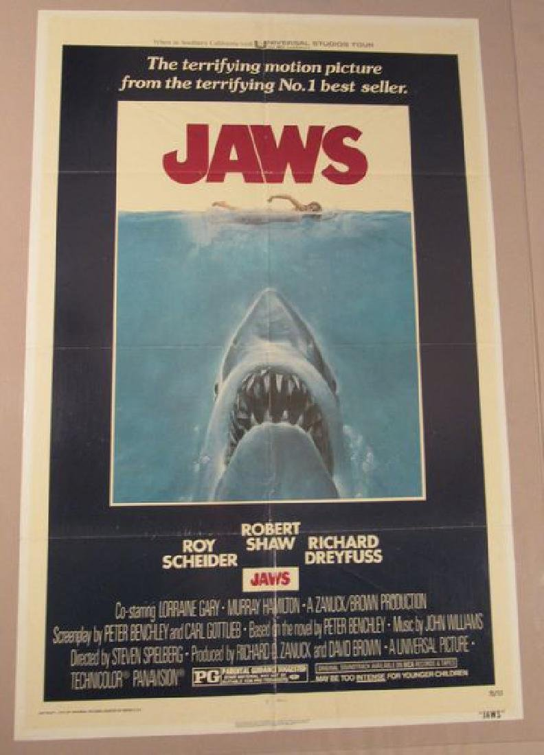 JAWS - 1975, ONE SHEET - FULLY FOLDED