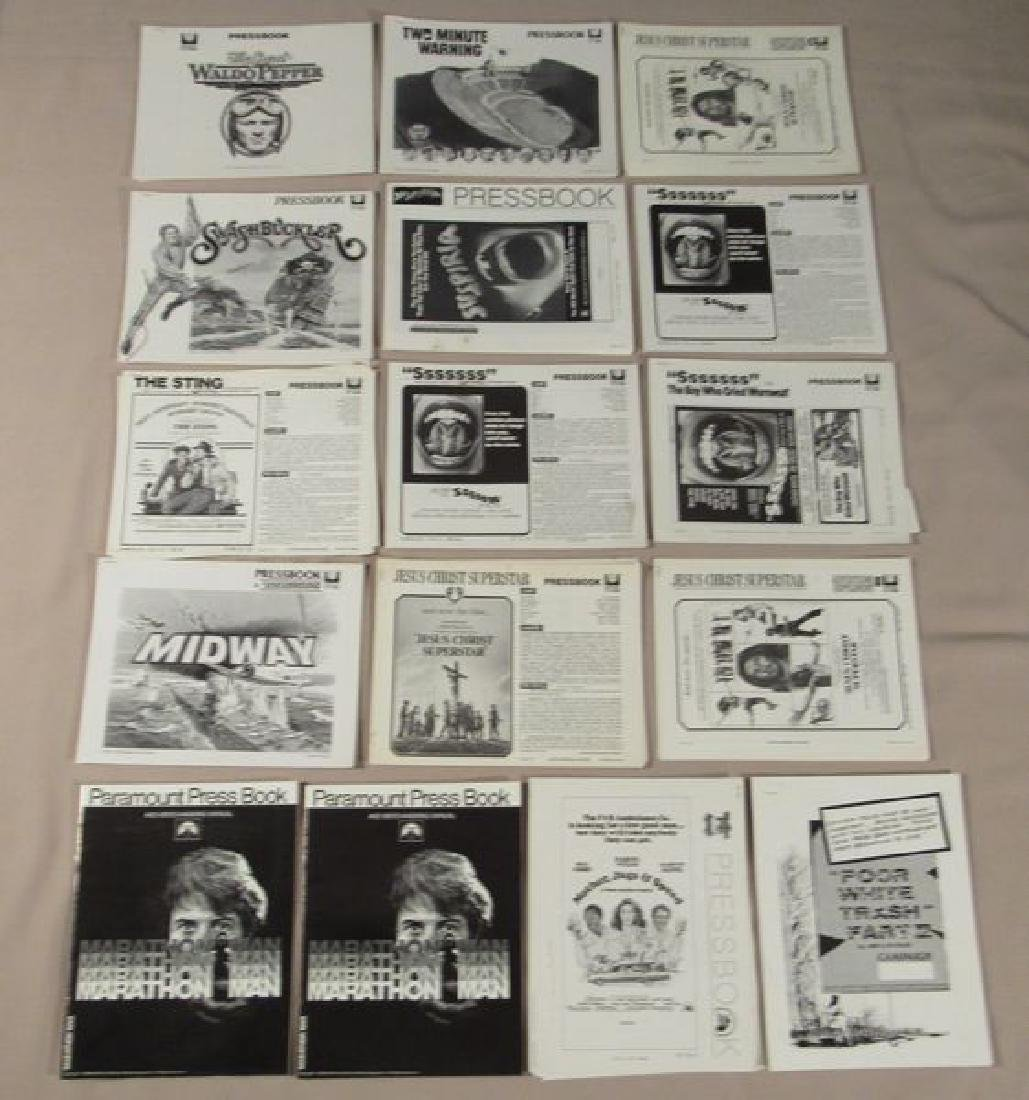 (53) ASSORTED PRESSBOOKS (MOST UNCUT)