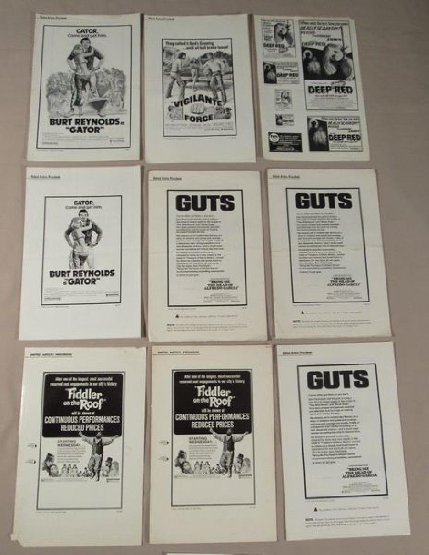 (50+) ASSORTED PRESSBOOKS - MOST UNCUT - 7