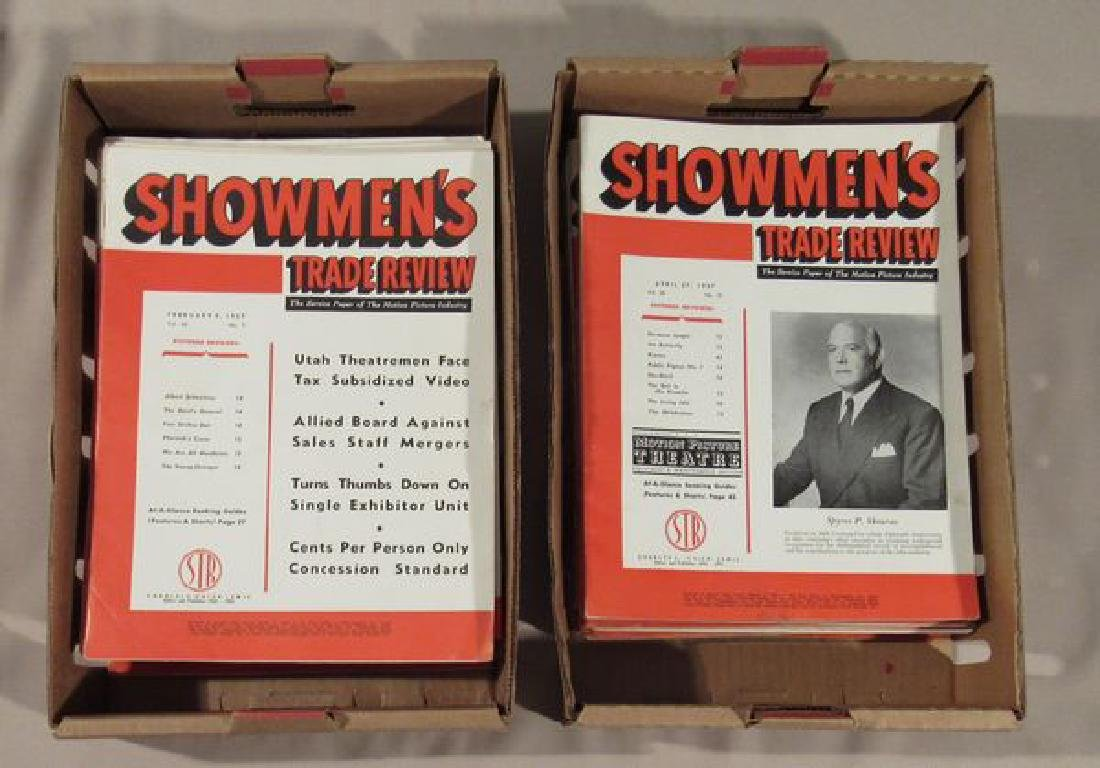 "(APPROX. 60) VOLS. OF ""SHOWMEN'S TRADE"