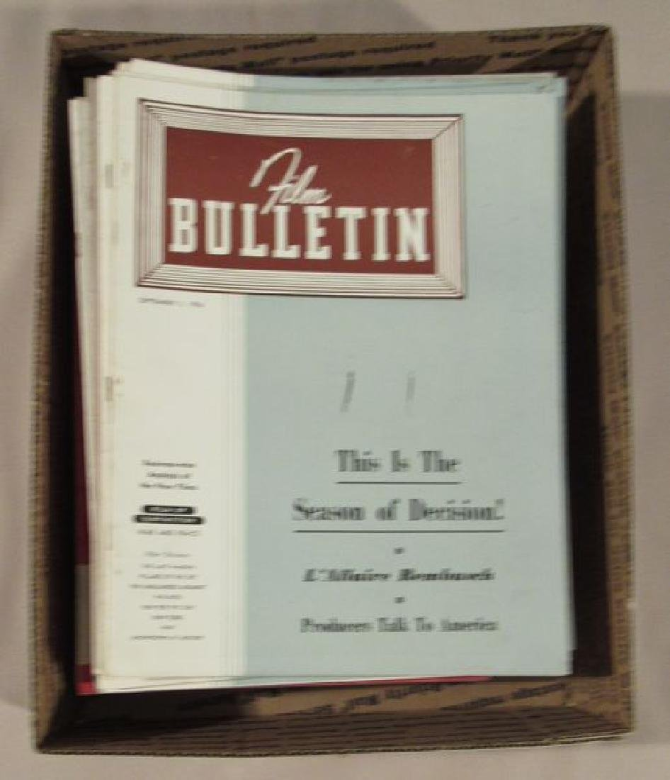 "(APPROX. 50) VOLS. OF ""FILM BULLETIN"""