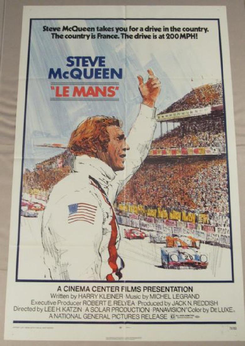 LE MANS - 1971, ONE SHEET - FULLY FOLDED