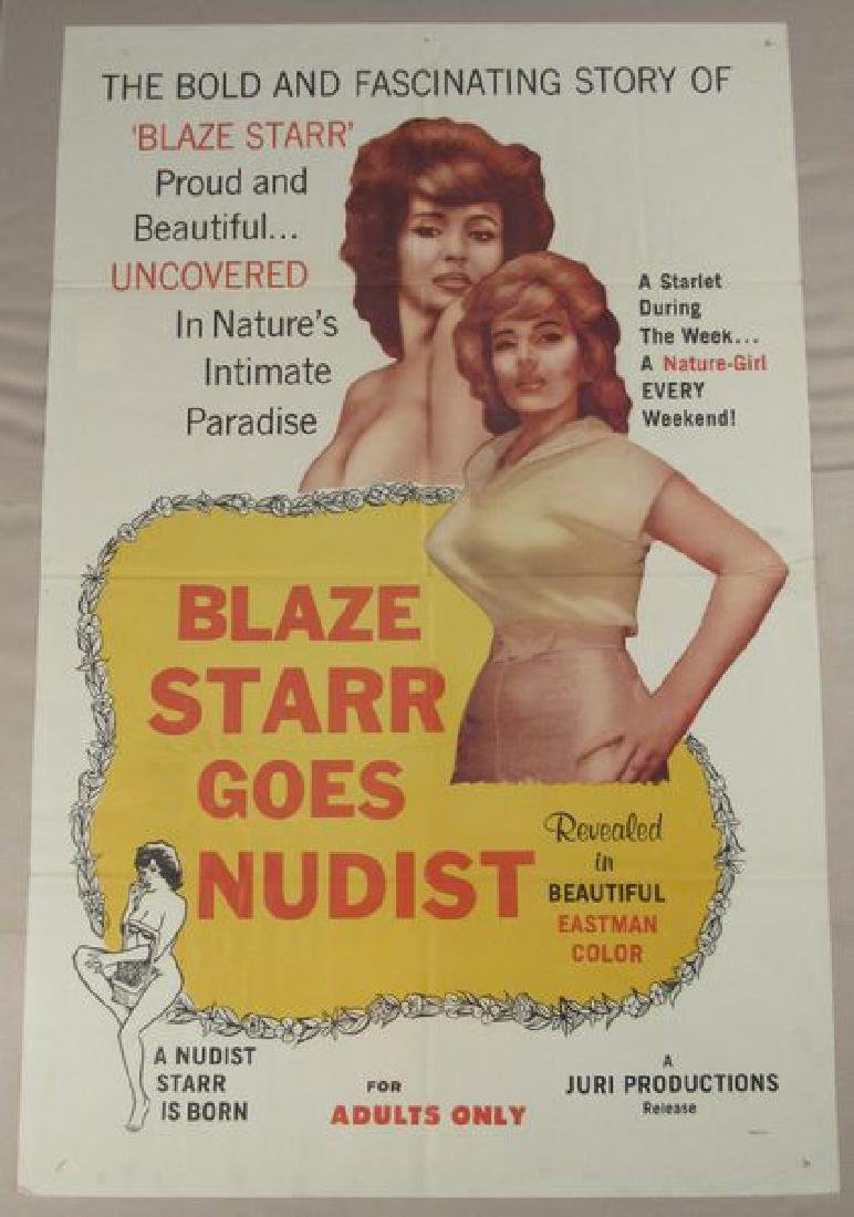 BLAZE STARR GOES NUDIST - 1960 ONE SHEET