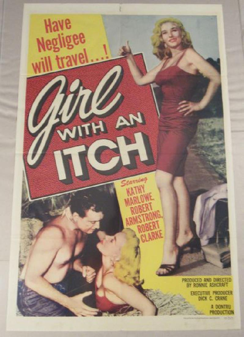 GIRL WITH AN ITCH - 1958 ONE SHEET
