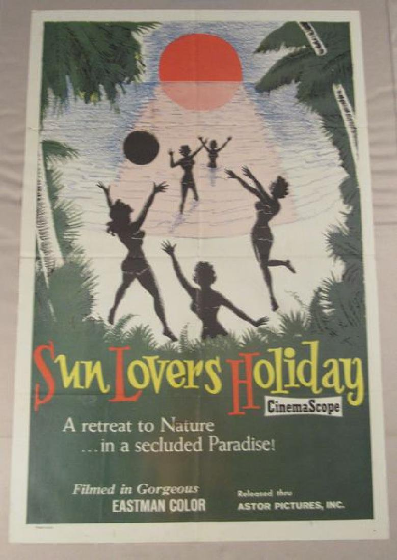 SUN LOVERS HOLIDAY - 1962 ONE SHEET