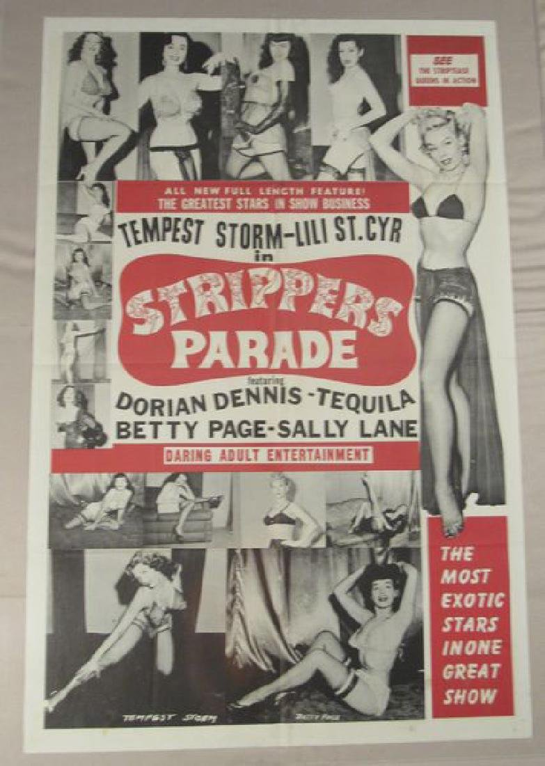 STRIPPERS PARADISE - 1956 ONE SHEET