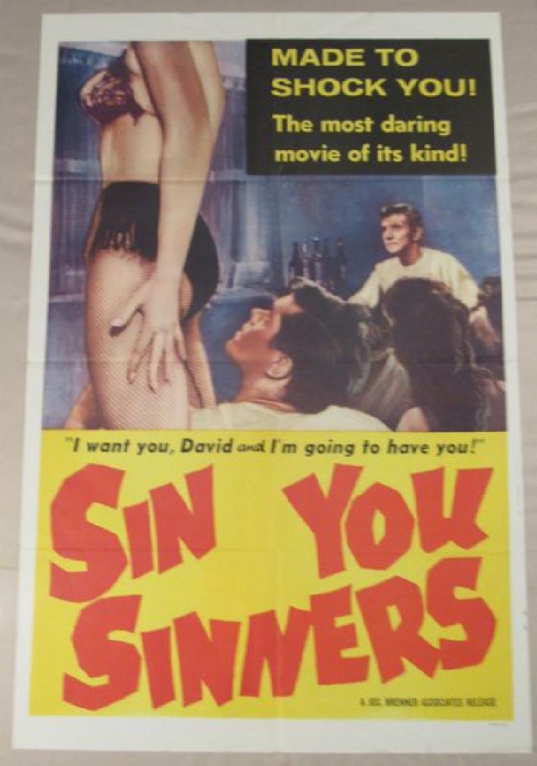 SIN YOU SINNERS - 1961 ONE SHEET