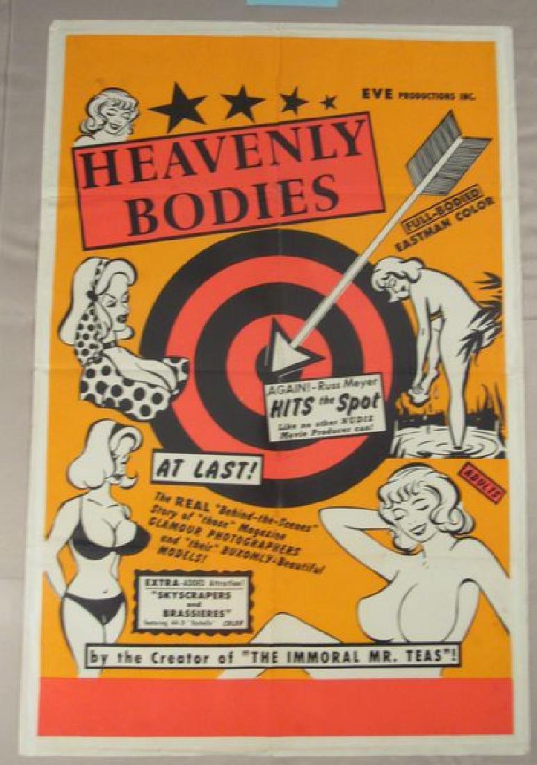 HEAVENLY BODIES - 1963 ONE SHEET