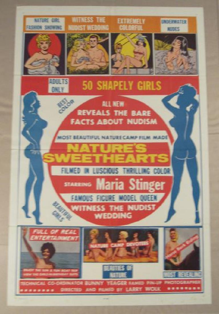 NATURE'S SWEETHEARTS - 1963 ONE SHEET