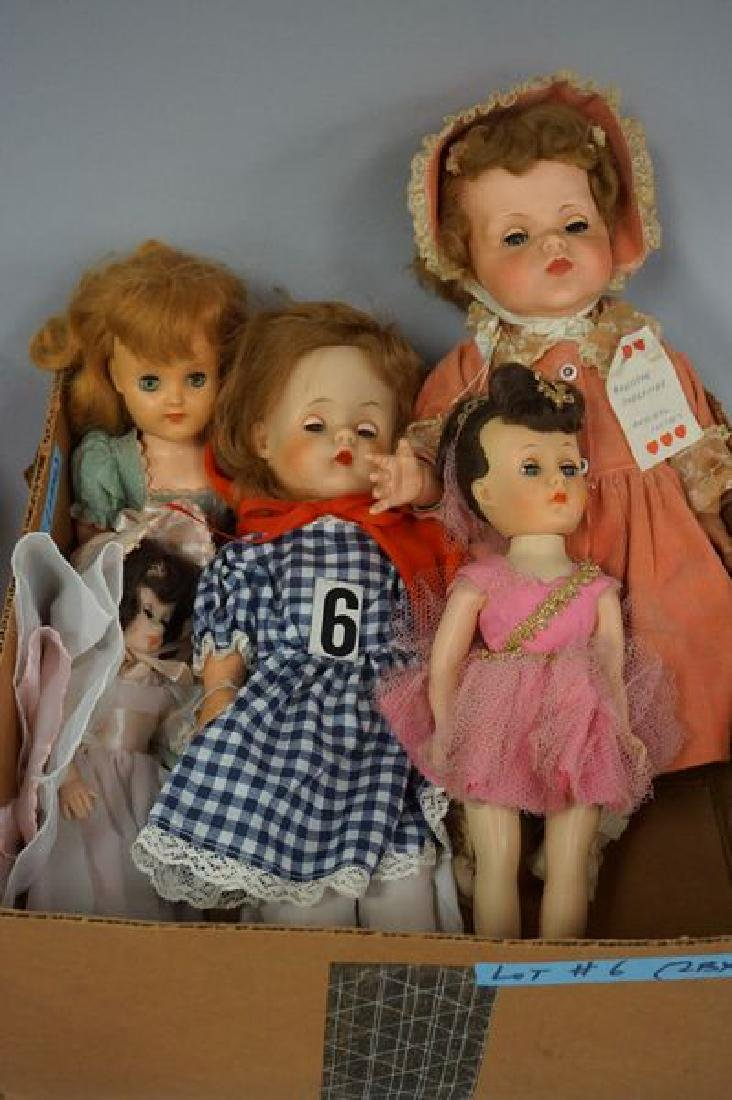 (2) BOX LOTS OF ASSORTED DOLLS, - 2