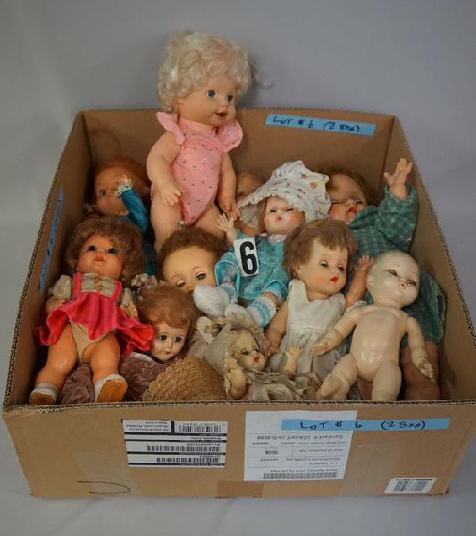 (2) BOX LOTS OF ASSORTED DOLLS, - 3