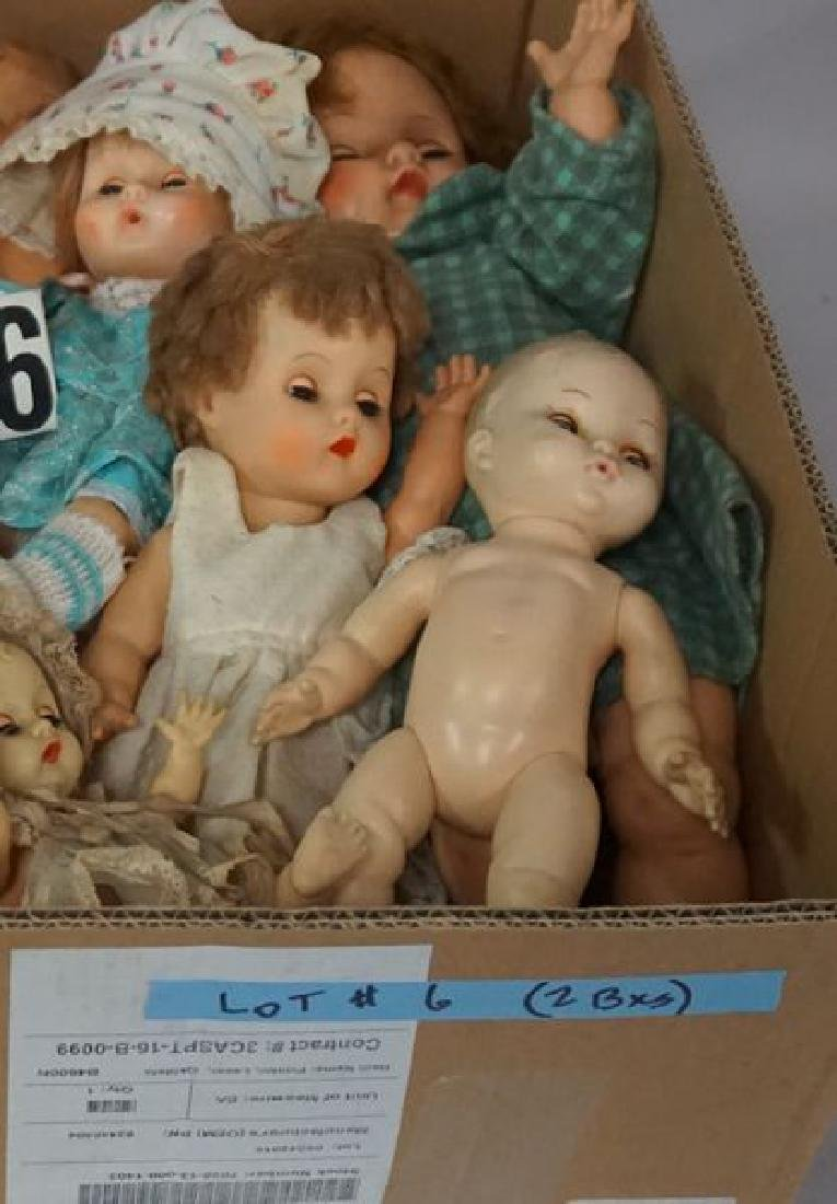 (2) BOX LOTS OF ASSORTED DOLLS, - 4