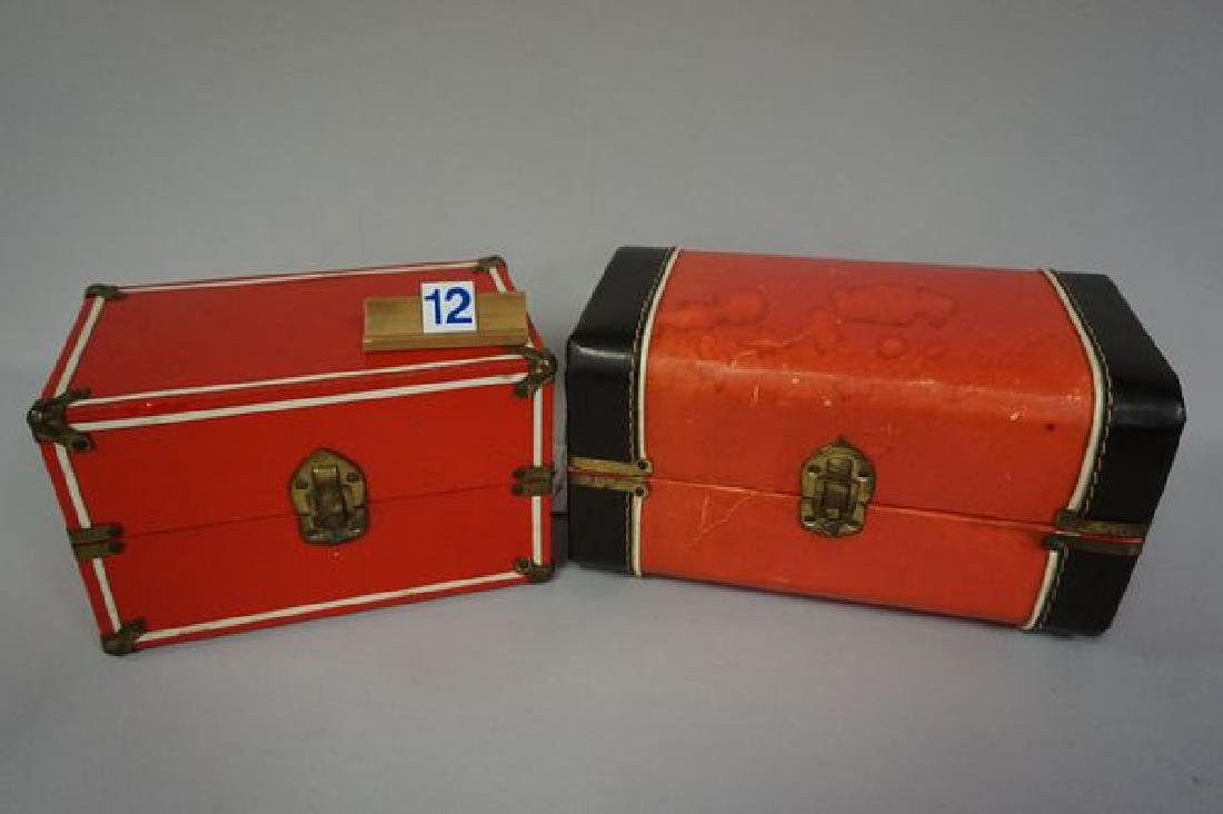 RED DOLL TRUNK WITH (2) STORY BOOK DOLLS - 4