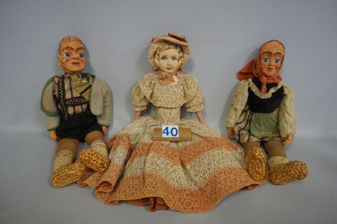 (2) BOXES OF ASSORTED COLLECTIBLE DOLLS - 2