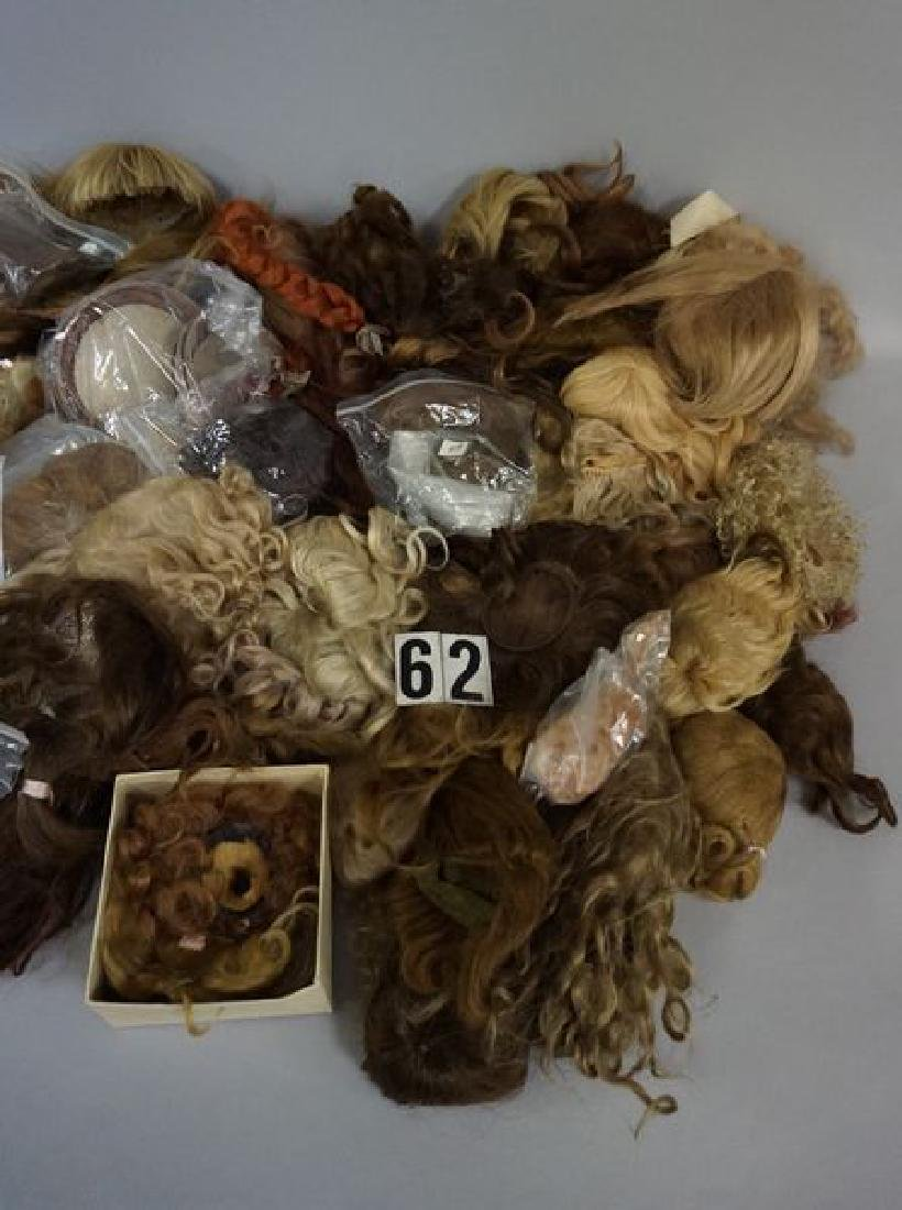 BOX OF DOLL WIGS & PATES - 3