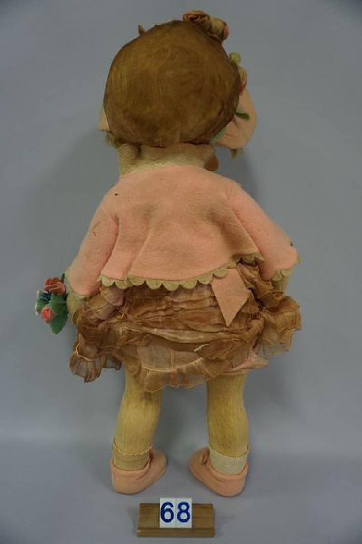 LENCI 21 INCH GIRL IN PINK WITH BONNET - 4