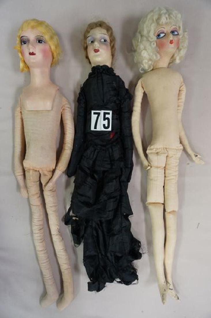 (9 PIECES): (3) BED DOLLS, (1) HELOISE CLOTH - 2