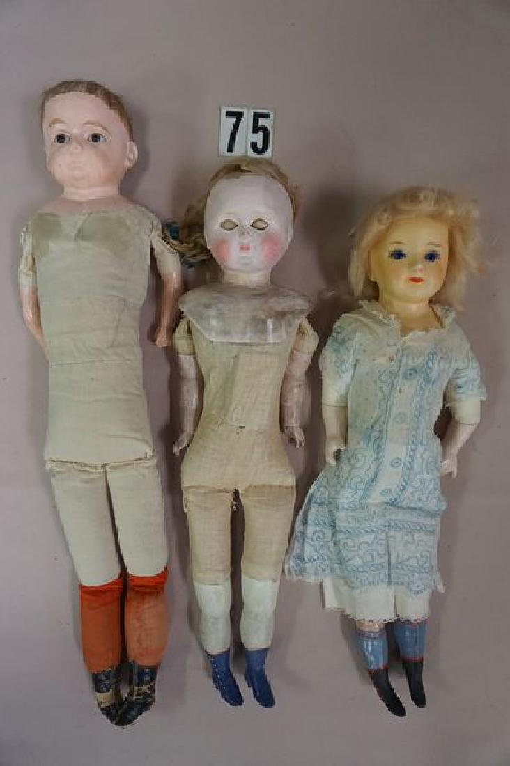(9 PIECES): (3) BED DOLLS, (1) HELOISE CLOTH - 4