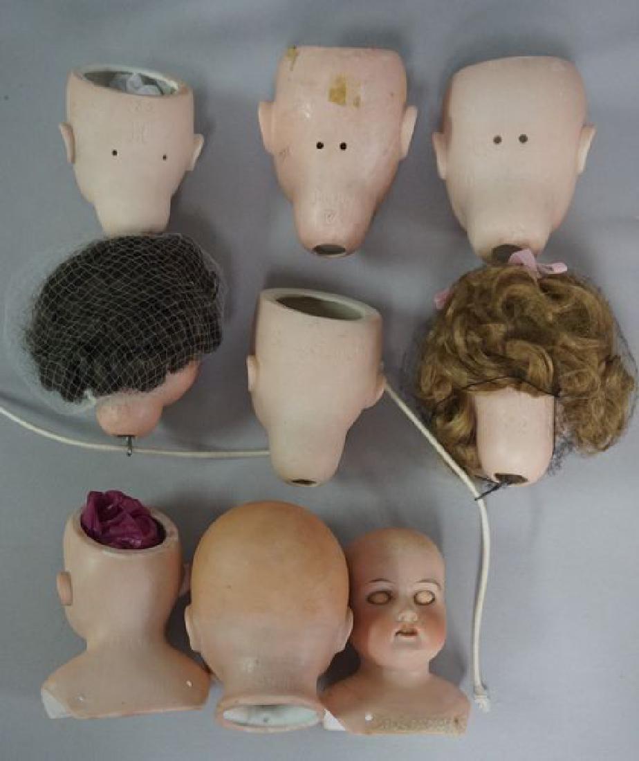(15) ANTIQUE BISQUE DOLL HEADS - 4