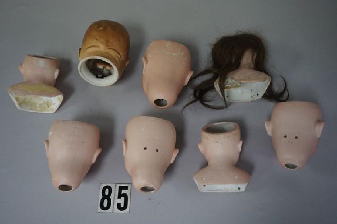 (17) ANTIQUE BISQUE DOLL HEADS - 6