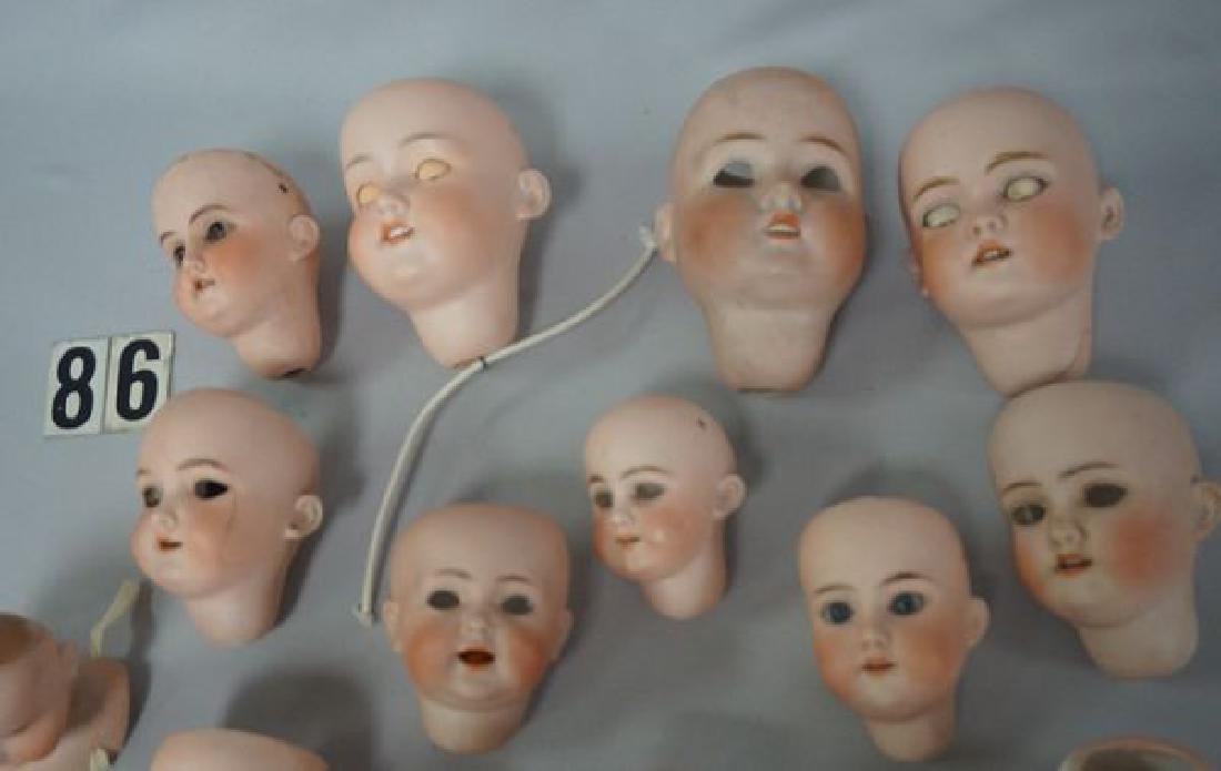(21) ANTIQUE BISQUE DOLL HEADS - 2
