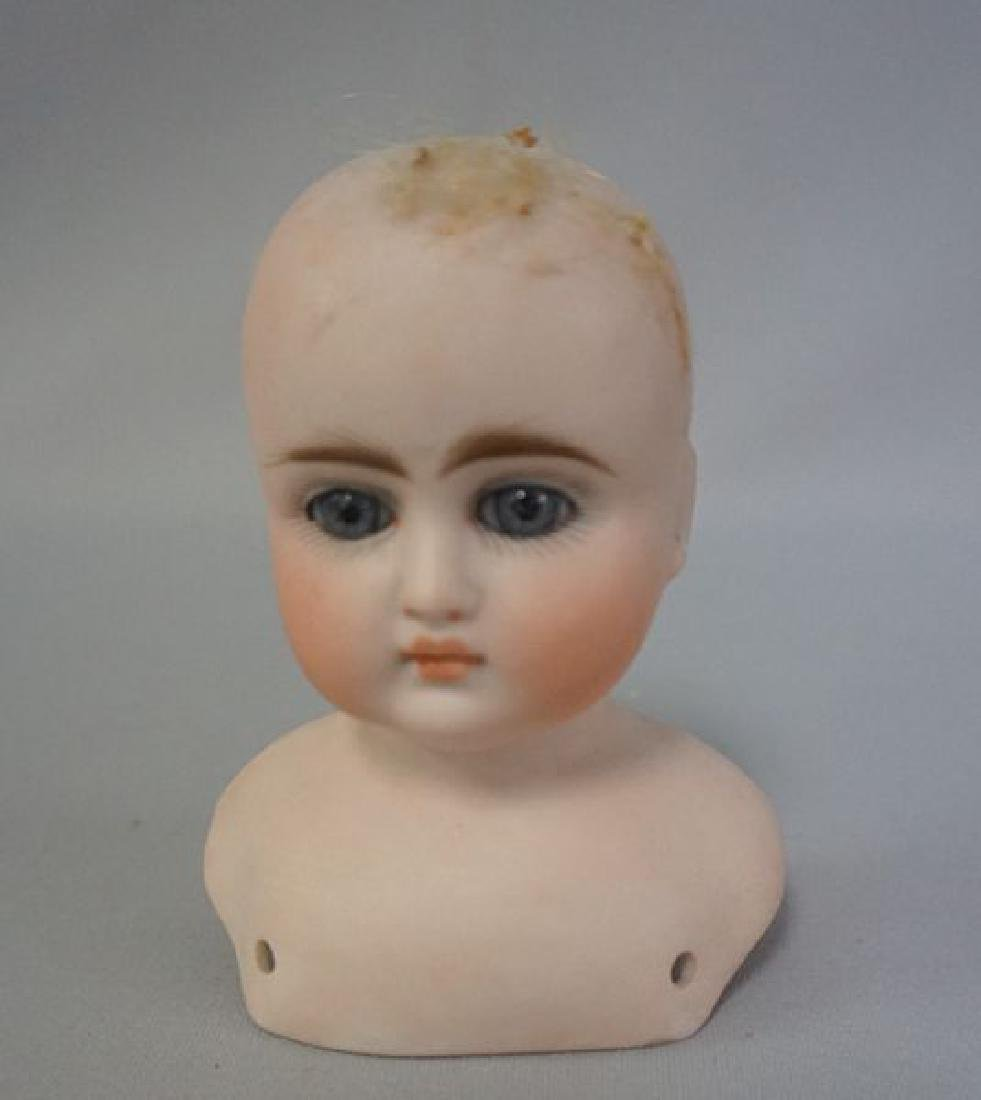 (21) ANTIQUE BISQUE DOLL HEADS - 4