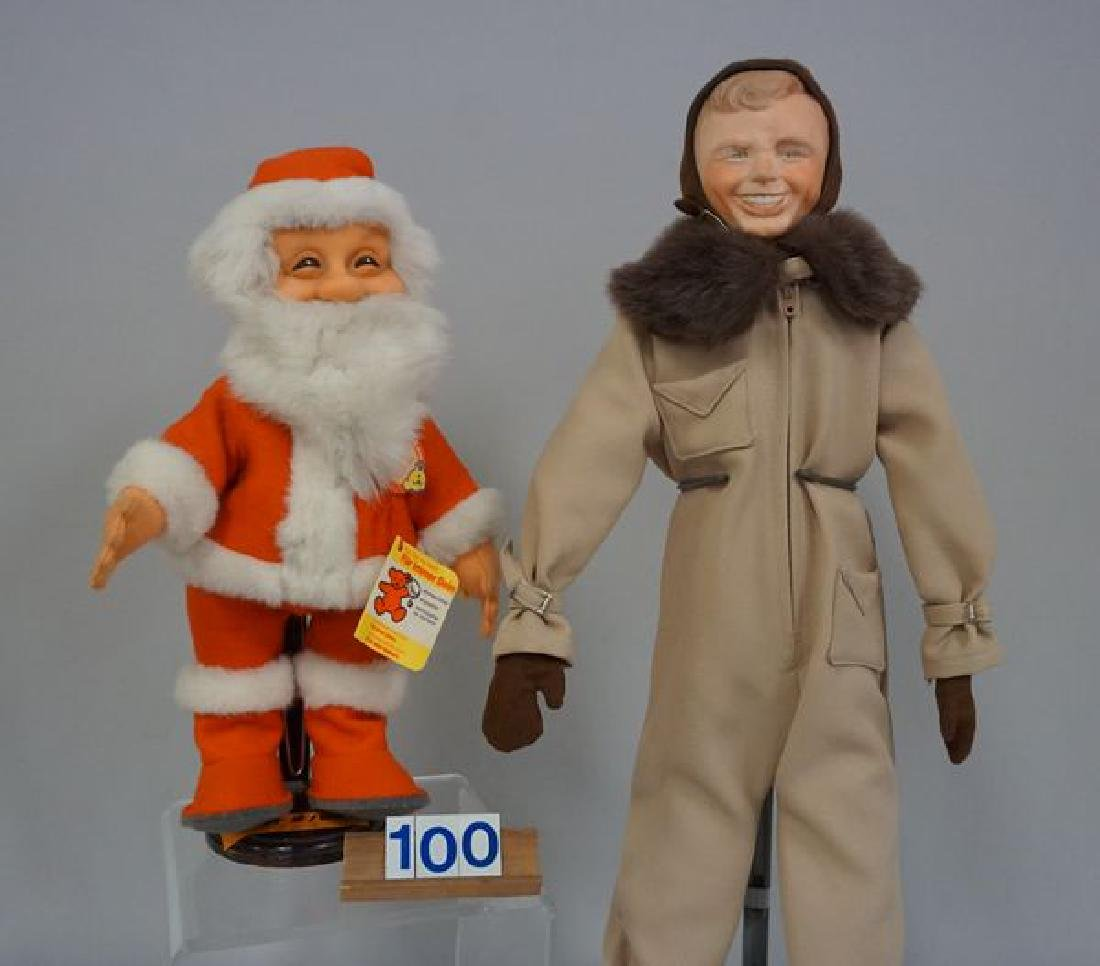 (2 PIECES) STEIFF 12 INCH SANTA CLAUS, - 2