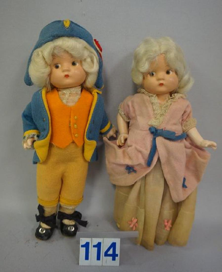 EFFANBEE PAIR OF 9 INCH COMPO GEORGE