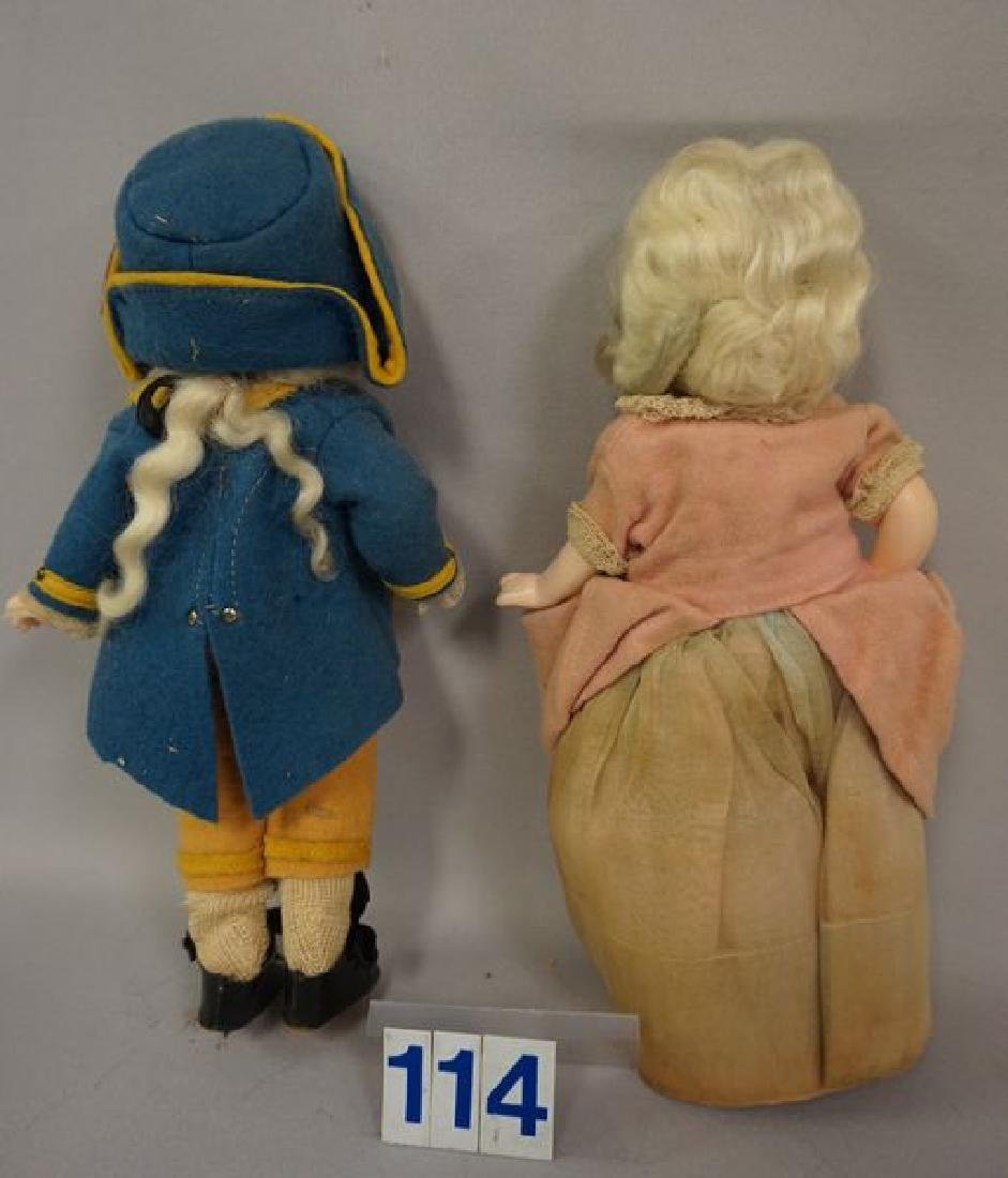 EFFANBEE PAIR OF 9 INCH COMPO GEORGE - 4