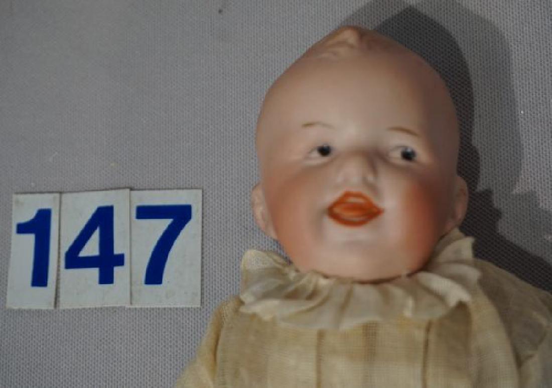 HEUBACH 10 INCH BISQUE HEAD LAUGHING BOY - 2