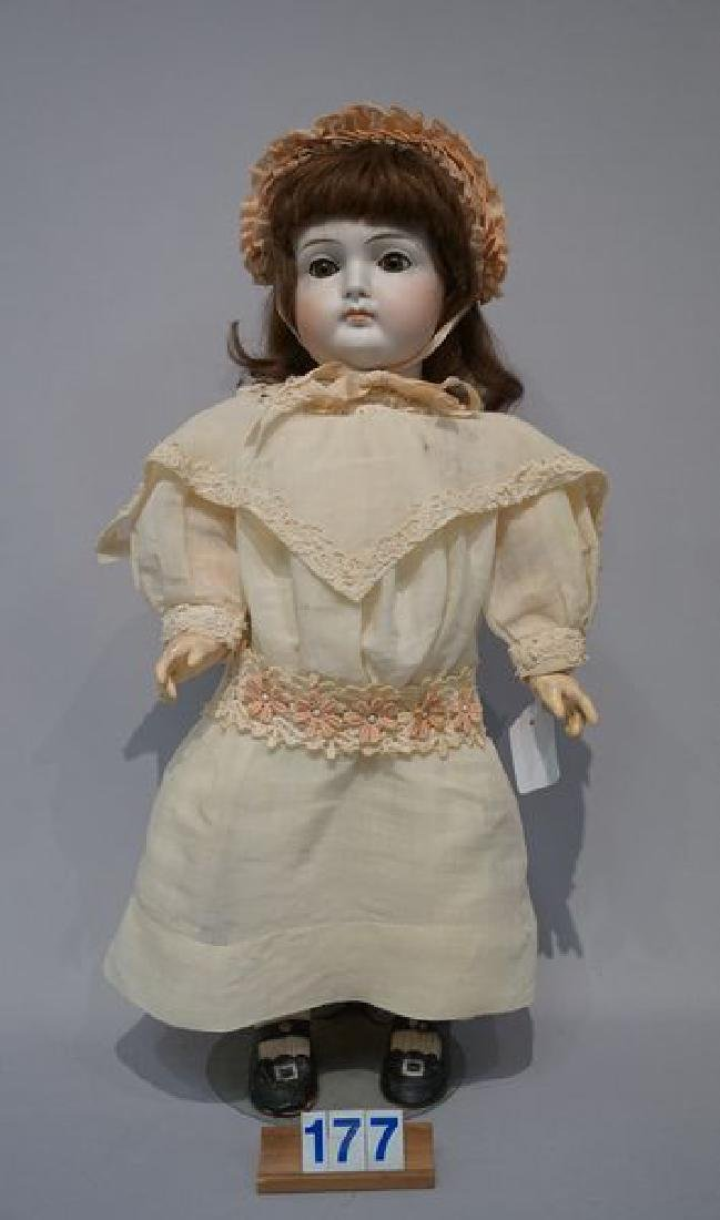 GERMAN EARLY 21 INCH CLOSED MOUTH DOLL