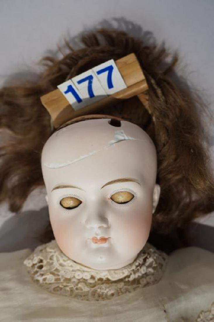 GERMAN EARLY 21 INCH CLOSED MOUTH DOLL - 3