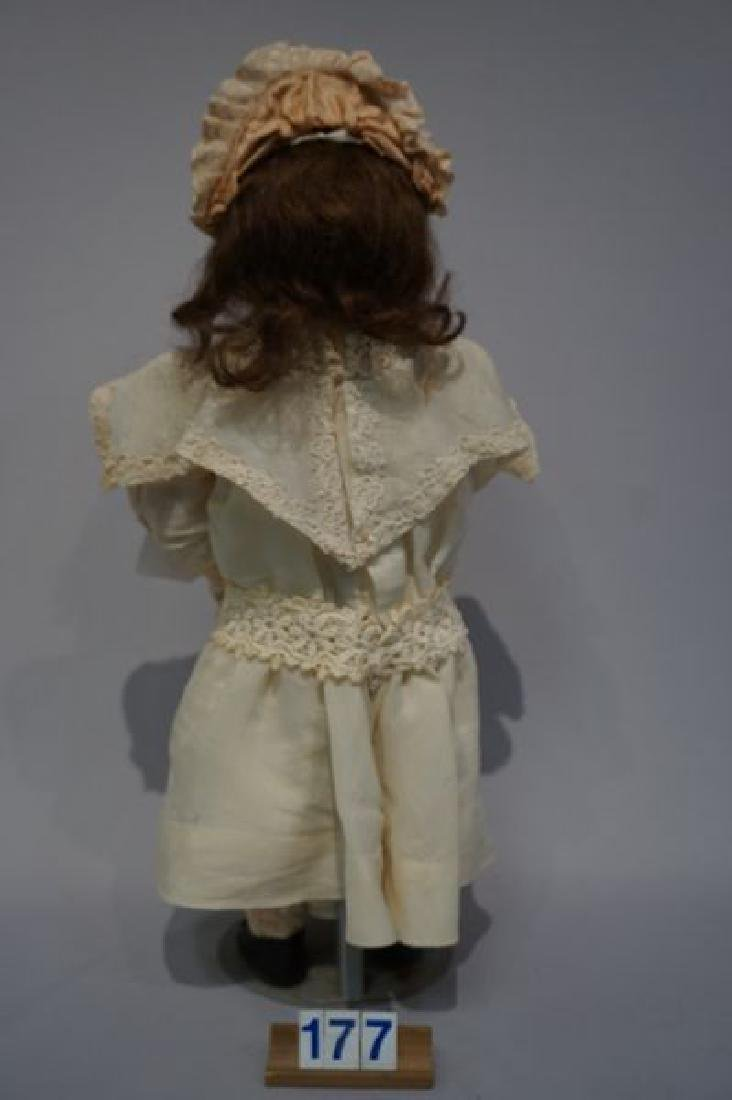 GERMAN EARLY 21 INCH CLOSED MOUTH DOLL - 4